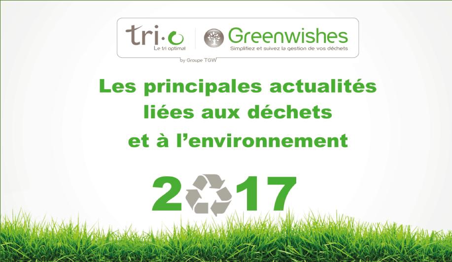 Quelles sont les nouveautés en matière de gestion de déchets prévues en 2017 ?
