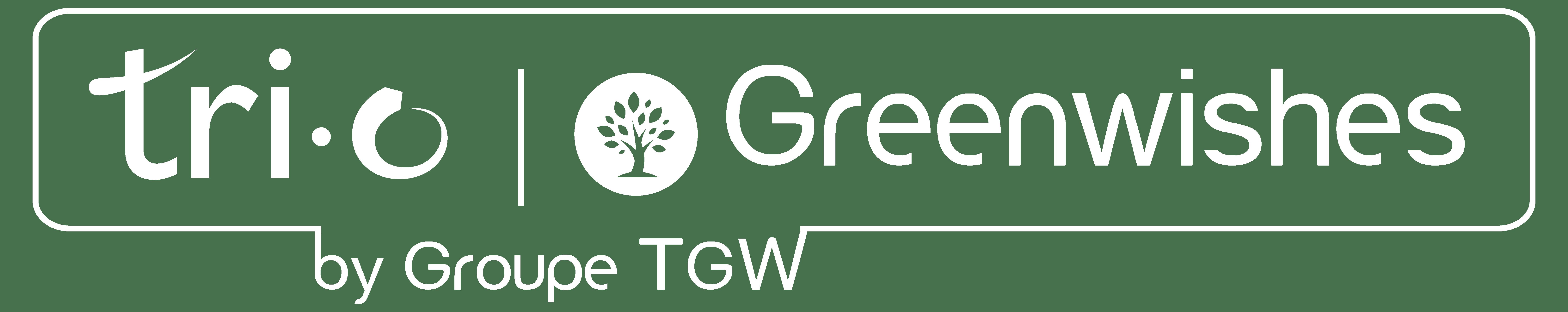 Logo Greenwishes blanc