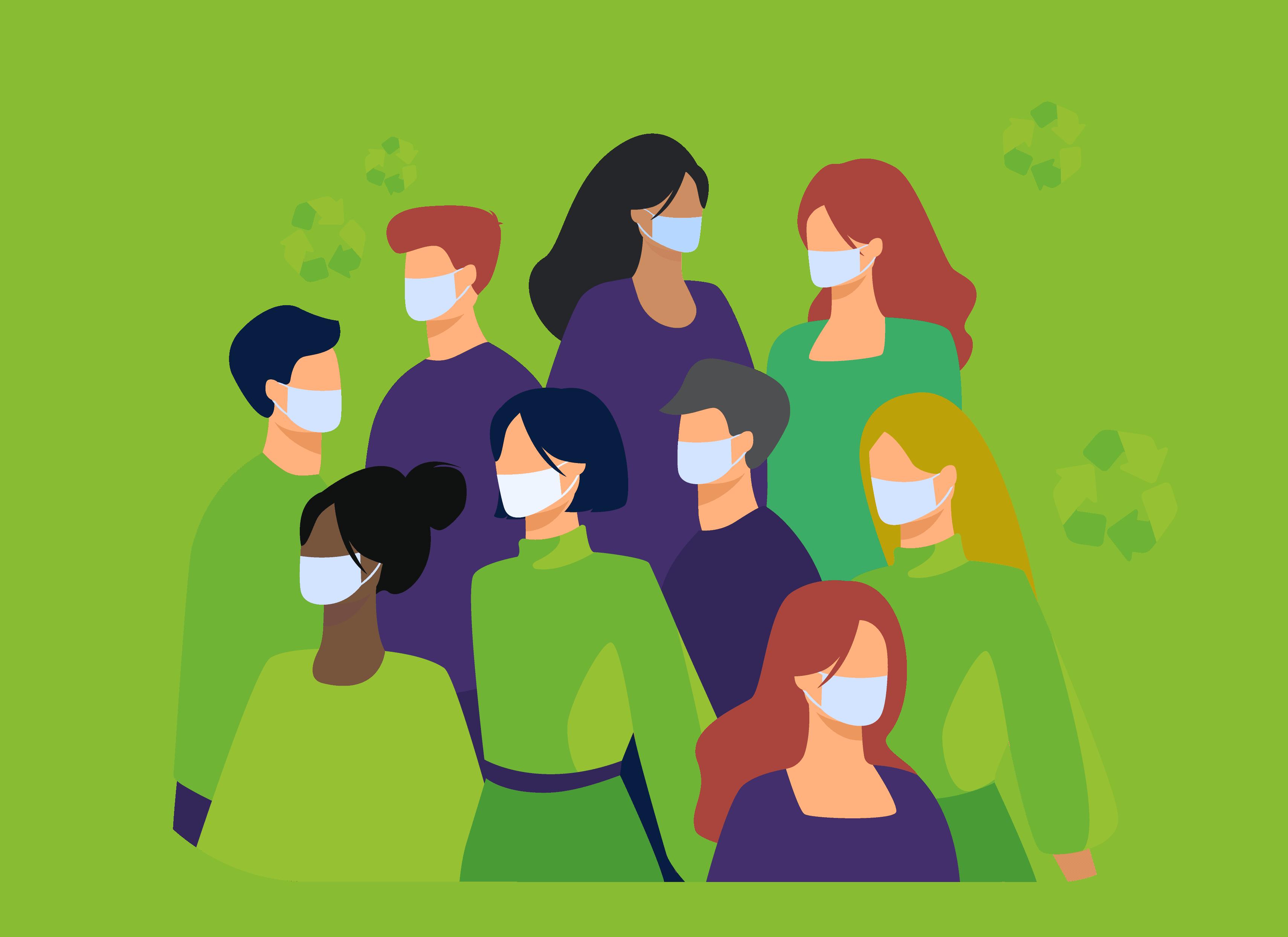 Port du masque en équipe - Greenwishes