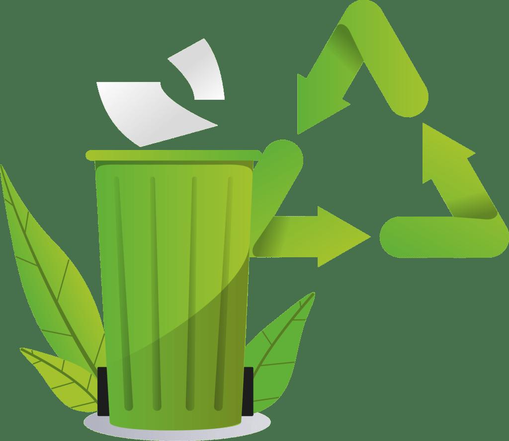 Poubelle papier recyclage